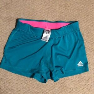 Worn once Adidas spandex shorts